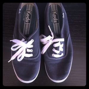 Keds Navy Blue Canvas Sneakers